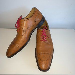 Paul Smith Tan Leather Cap Toe Shoes